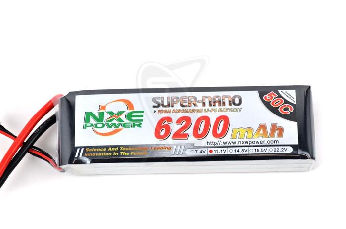NXE 3-Cells 6200mAh 50C LiPo-XT90