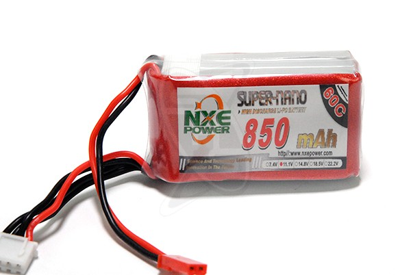 NXE 3-Cells 850mAh 60C LiPo JST