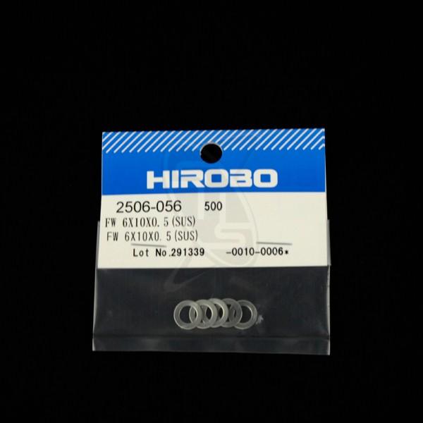 HIROBO 2506-056 Flat Washer 6x10x0.5T (SUS)