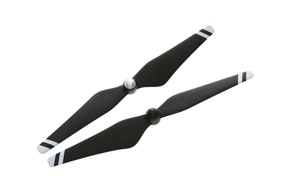 DJI 9450 Carbon Fiber Reinforced Propellers (Black With White Stripes)