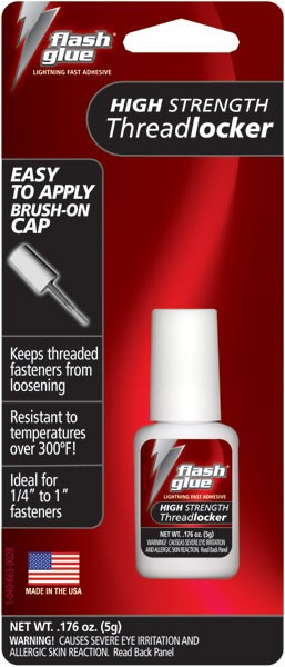 Flash Glue Red High Strength Threadlocker (5g)