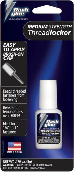 Flash Glue Blue Medium Strength Threadlocker (5g)