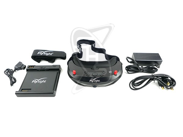 Flysight SpeXman One (SPX01) 5.8GHz FPV Diversity HDMI 1.3 Goggle with Battery and Charger with Harness