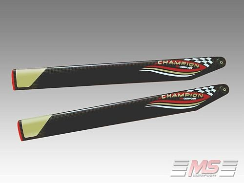 MS Composit CFC Main blades 71 cm/12/4+5 Champion (Flybarless)