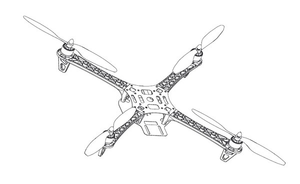 DJI Flame Wheel F450 Frame Only