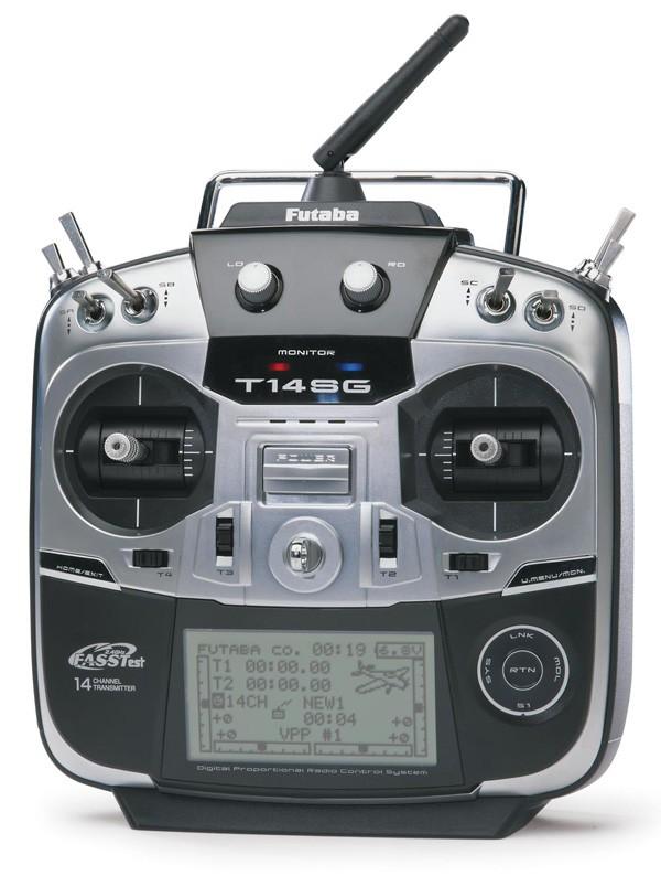 Futaba 14SG 14-Channel 2.4GHz Radio System with R7008SB Receiver (Mode 1)
