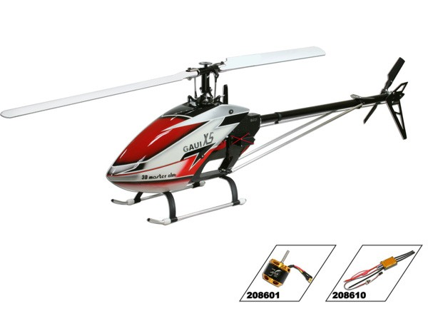 Gaui Helicopter   Basic Component includes CF Main Frame, Integrated CNC Servo/Motor Mounts,  Torque Tube Drive   Package Also Includes  X7 Combo A   √   Funkey 690mm Main Blades, Funkey 105mm Tail Blades, Scorpion 500kV Motor  X7 Basic Kit   √   Nil