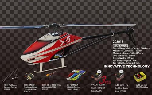 Gaui 208013 X5 Helicopter Premium Edition (Gaui VBar)