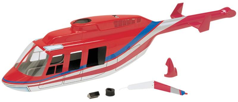Hirobo 0403-922 50 Long Ranger Body (Red)