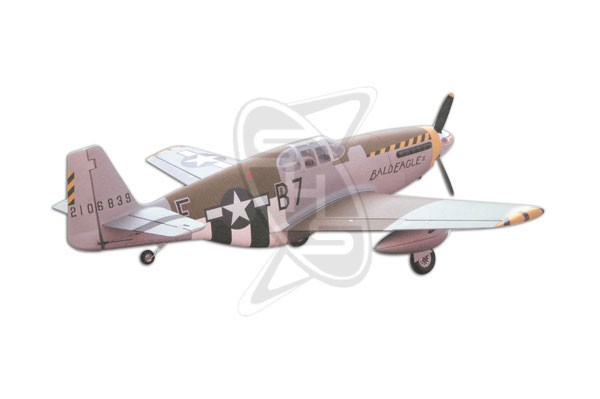 ESM P-51B Mustang (08 Edition) with Retracts BUNDLE
