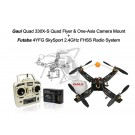 Gaui 330X-S Quad Flyer with One-Axis Camera Mount + Futaba 4YFG Radio Combo