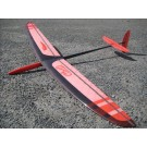 Stratair Chili F3K DLG - Full Carbon Wing with Servos (Red)