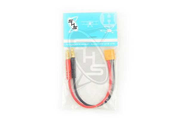 SINGAHOBBY XT60 to 4MM Bullet Male (150mm)