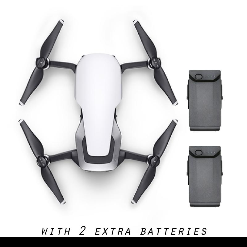 DJI Mavic Air with 2 Extra Batteries (Arctic White)