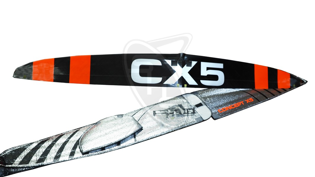 ROWING Concept CX5 Pro - Red Stripes with Covers, SV Tray + D-Box