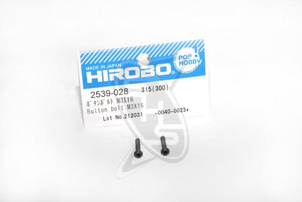 Hirobo 2539-028 Button Bolt M3x16