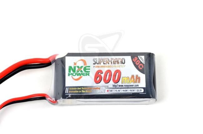 NXE 2-Cells 600mAh 30C LiPo-XT60