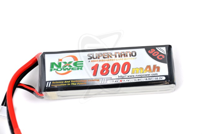 NXE 3-Cells 1800mAh 30C LiPo-XT60