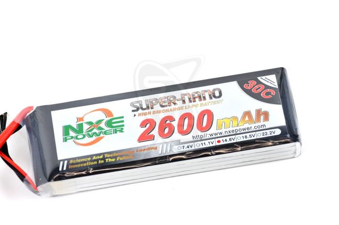 NXE 4-Cells 2600mAh 30C LiPo-XT60