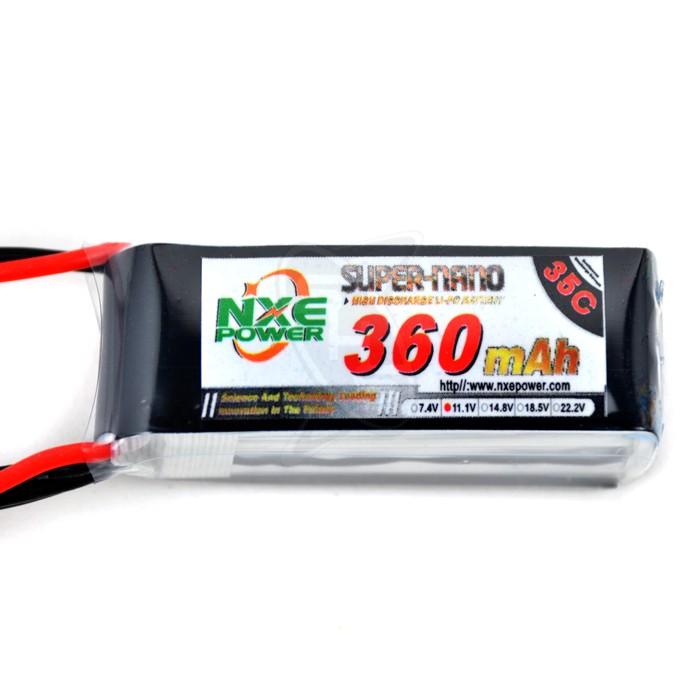NXE 3-Cells 360mAh 35C LiPo-JST