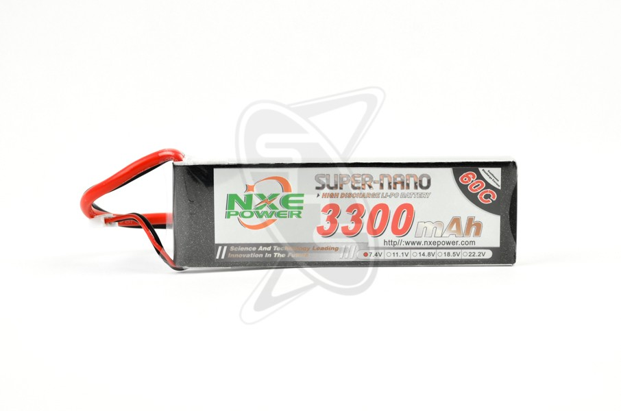 NXE 2-Cells 3300mAh 60C LiPo-XT60