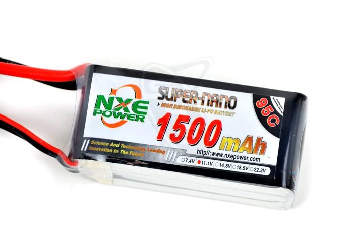 NXE 3-Cells 1500mAh 95C LiPo-XT60