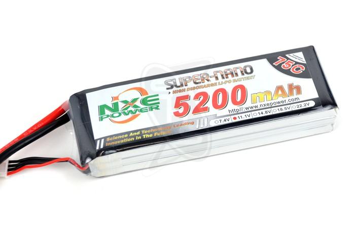 NXE 3-Cells 5200mAh 75C LiPo-XT60