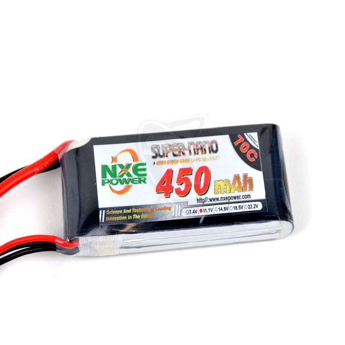 NXE 3-Cells 450mAh 70C LiPo-XT30