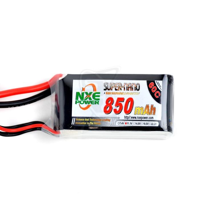 NXE 3-Cells 850mAh 60C LiPo-XT60