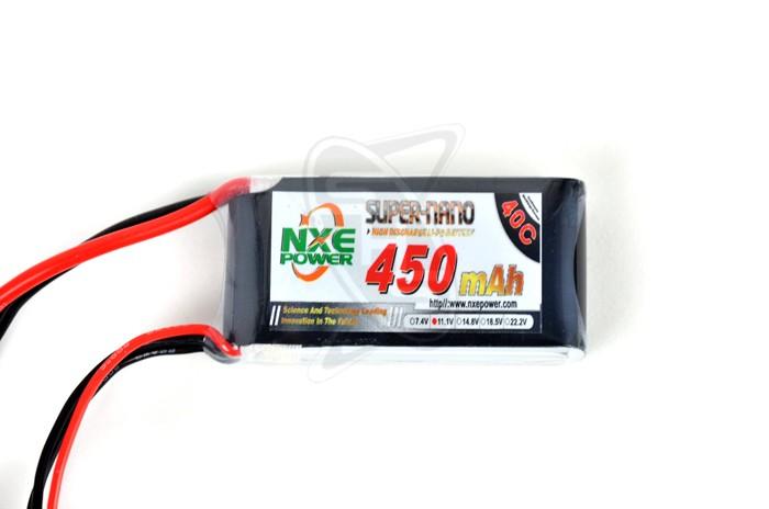 NXE 3-Cells 450mAh 40C LiPo-XT60