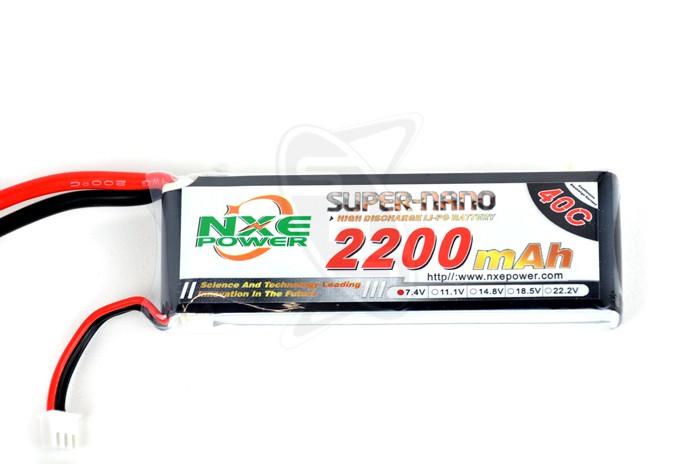 NXE 2-Cells 2200mAh 40C LiPo-XT60