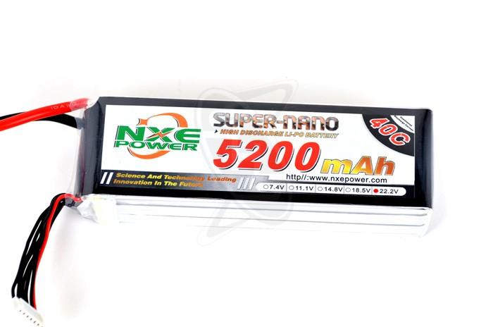 NXE 6-Cells 5200mAh 40C LiPo-XT90