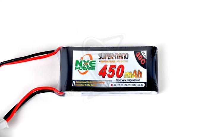 NXE 2-Cells 450mAh 30C LiPo-JST