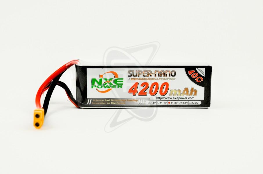NXE 4-Cells 4200mAh 40C LiPo-XT60