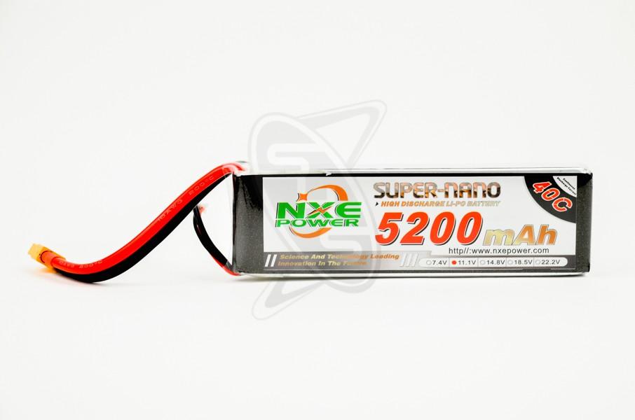 NXE 3-Cells 5200mAh 40C LiPo-XT60
