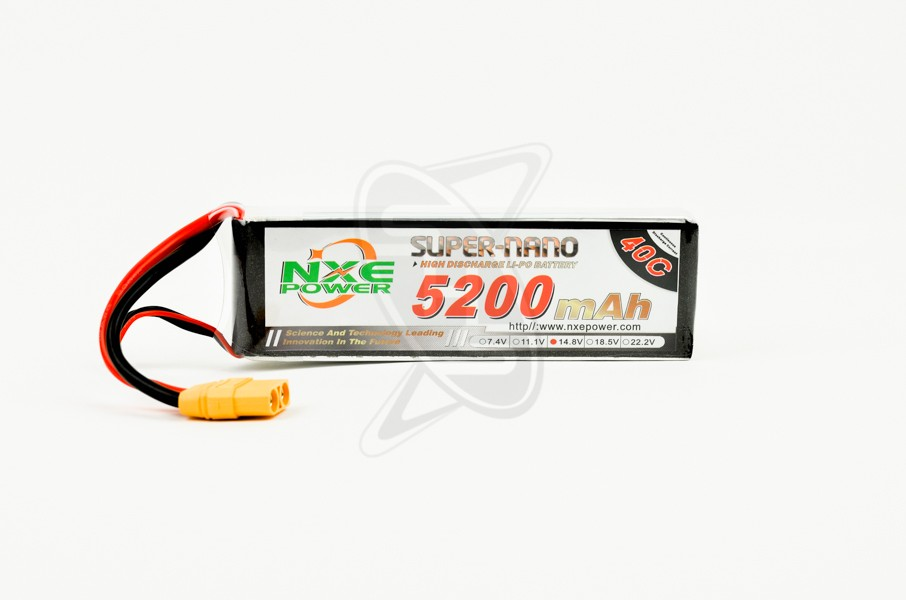 NXE 4-Cells 5200mAh 40C LiPo-XT90
