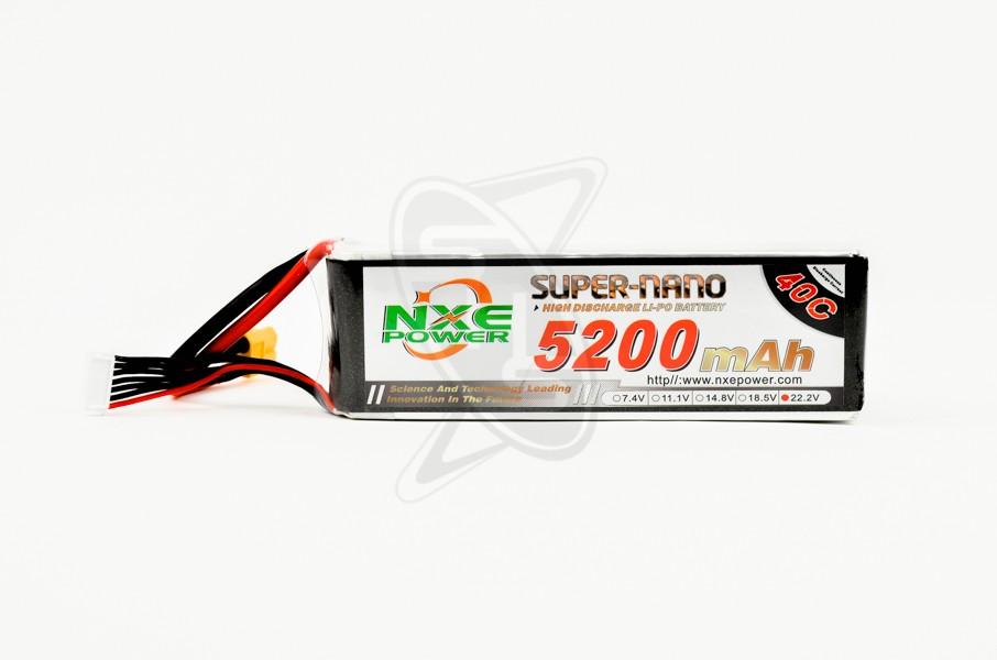 NXE 6-Cells 5200mAh 40C LiPo-XT60