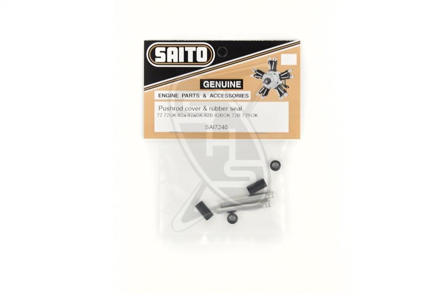 SAITO 72-40 Push Rod Covers & Seal for FG-14C/82B