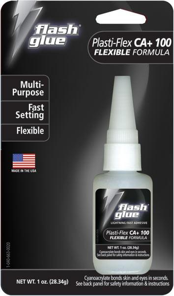 Flash Glue Plasti-Flex CA+ 100 (1 oz)