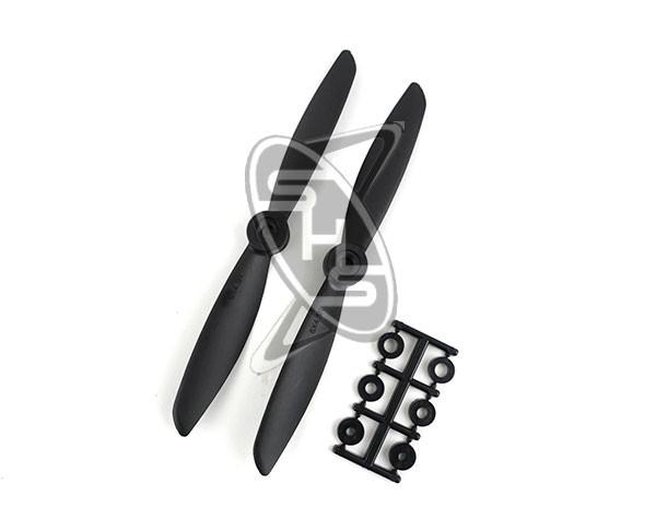 HQPROPS Direct Drive Pusher Propeller 6x4.5R (Black)
