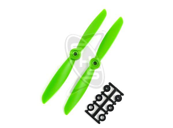 HQPROPS Direct Drive Pusher Propeller 6x4.5R- (Green)