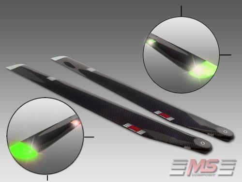 MS COMPOSIT CFC Night Blades 55cm/12/4-2 Colours