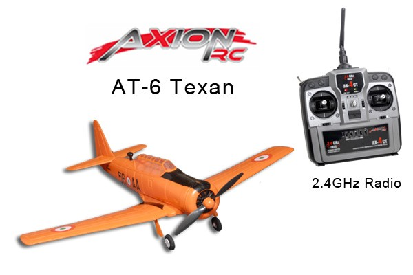 AxionRC AT-6 Texan RTF with 2.4GHz 4-Channel Radio (Mode 1)