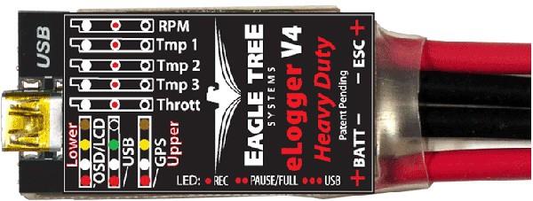 Eagle Tree e-Logger V4 With Wire Leads (150A)
