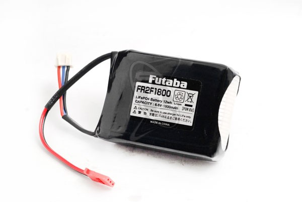 Futaba FR2F1800 LiFe Receiver Battery with LBC-4E5 LiFe Charger