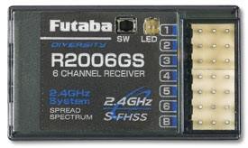 Futaba R2006GS 2.4GHz S-FHSS 6-channel Receiver