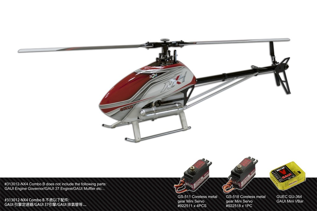 Gaui 313012 NX4 Flybarless Helicopter (Combo B)