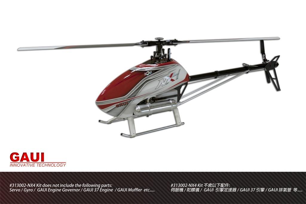 Gaui 313002 NX4 Flybarless Helicopter (Kit)