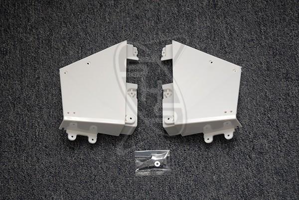 Hirobo 0402-373 LM Rear Frame Set (White)