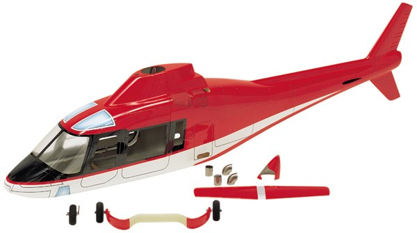 Hirobo 0403-924 50 Agusta A109 Body (Red)